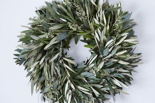 Olive & Dried Eucalyptus Wreath