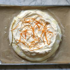 White Chocolate Orange Pavlova