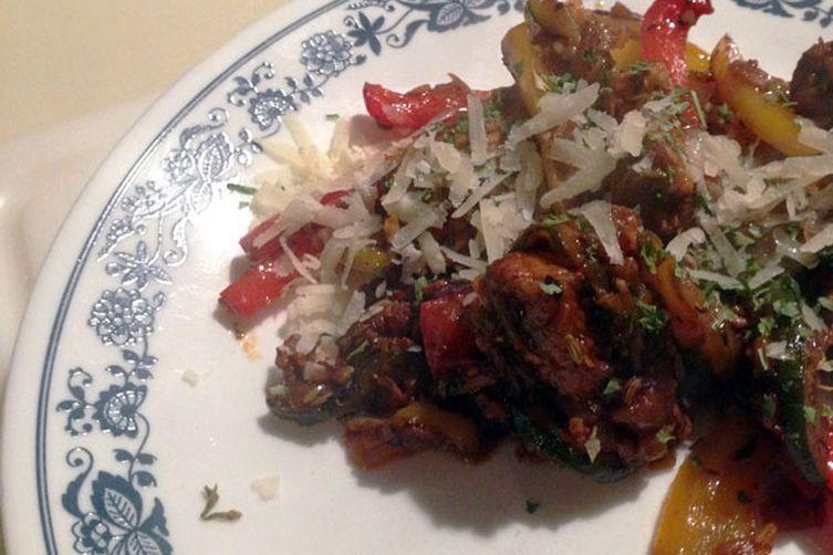 Chicken, Turkey, Pepper, Onion & Zucchini