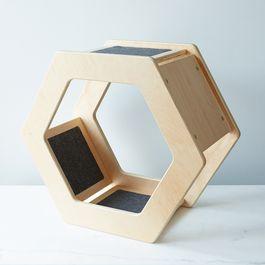 Wall-Mounted Hexagonal Cat Scratcher