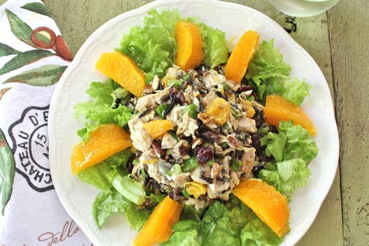 Chicken Salad with Wild Rice and Oranges