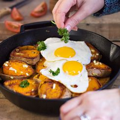 Easy German Pan-Fried Potatoes and Eggs