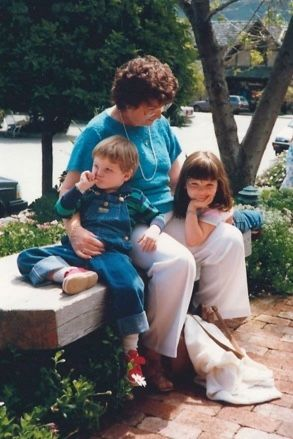 Grandmother, Billy, and me. Outfits courtesy 1987.