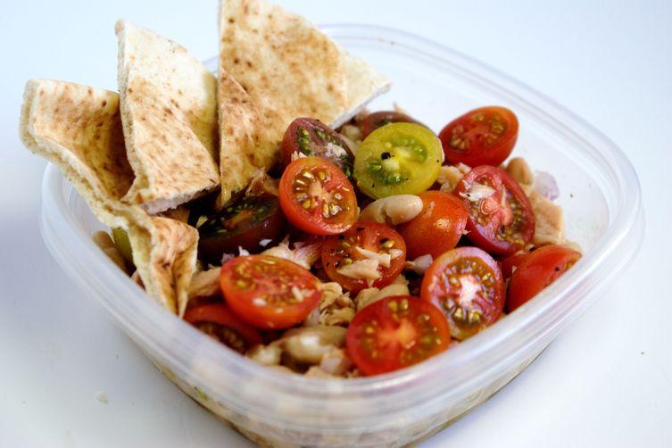 Tuna and White Bean Salad with Heirloom Tomatoes