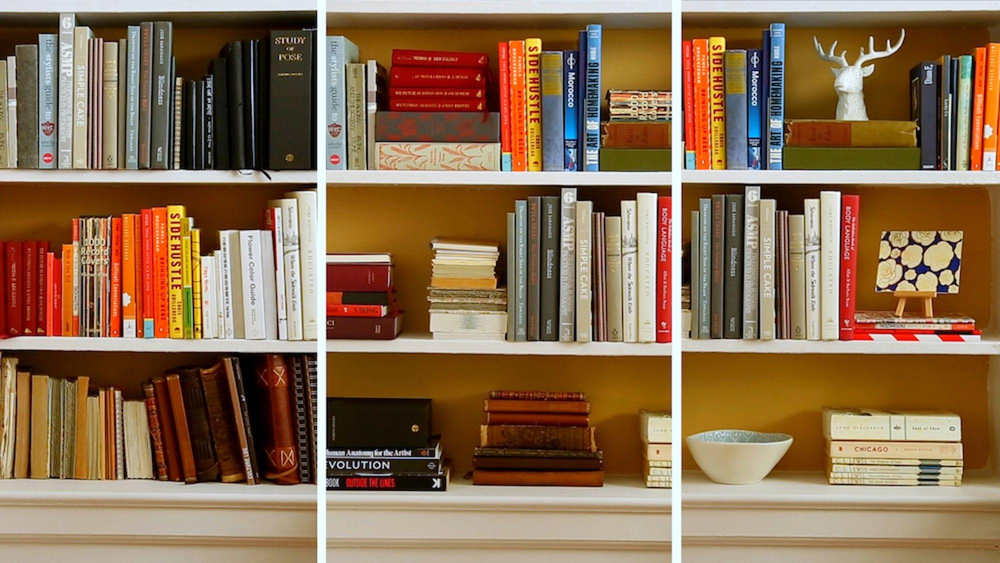 3 Gut Aussehende Weise zu Organisieren Sie Ihre Bücherregale