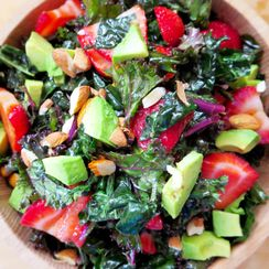 Strawberry, Avocado, & Kale Summer Salad