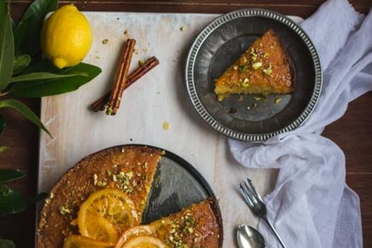 Orange Polenta Cake With Candied Orange Slices