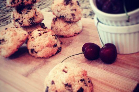 Dark Chocolate Cherry Macaroons