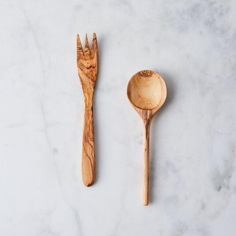 Hand-Carved Olivewood Serving Set