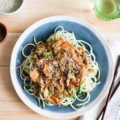 Almond Butter and Veggie Zoodles