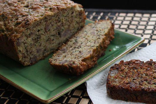 Zucchini Sausage Walnut Bread