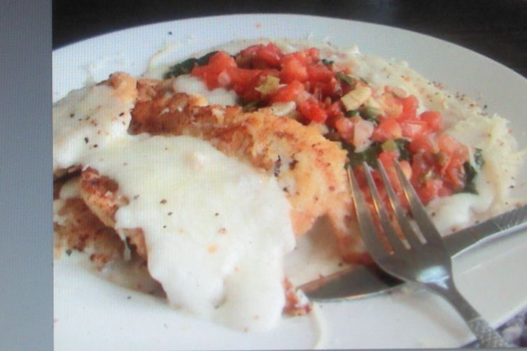 What's the title of your recipe? Saute Tomatoes with Creamy Chicken Parmesan