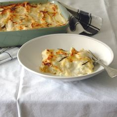 Chicken and mushrooms white lasagna