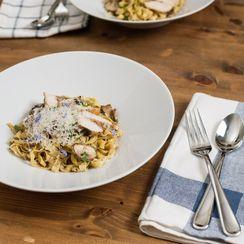 Chicken Marsala with Fettuccine