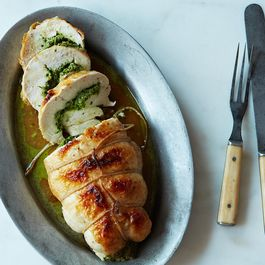 How to Make Stuffed Roast Chicken Breast (or Turkey, or Duck) Without a Recipe
