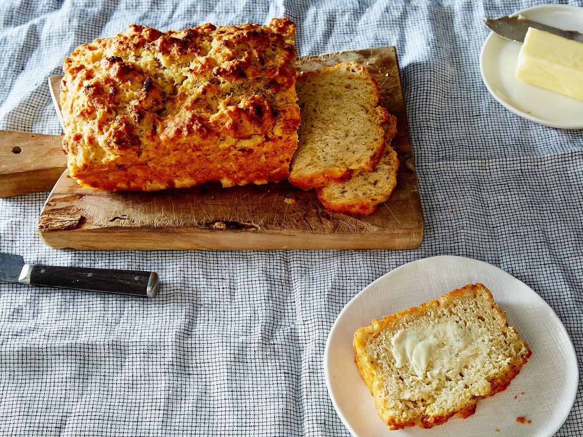 Garlic Parmesan And Herb Beer Bread