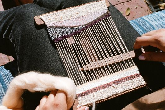 A Readymade Frame Loom & How to Weave On It