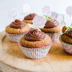 Walnut Cupcakes with Creamy Lindt Chocolate Ganache