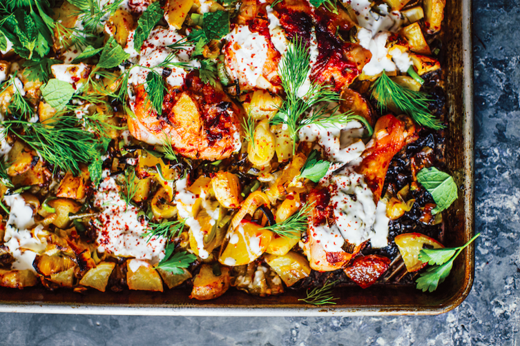 Sheet Pan Harissa Chicken With Leeks And Potato Recipe