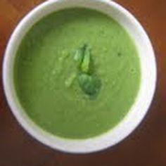 Pea and leek soup