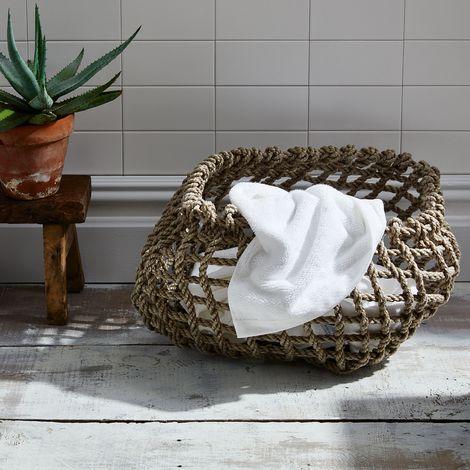 Wabi Sabi Handwoven Rope Basket