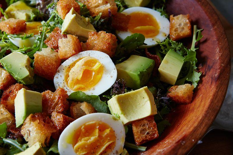 Bacon, Avocado, and Hardboiled Egg Salad