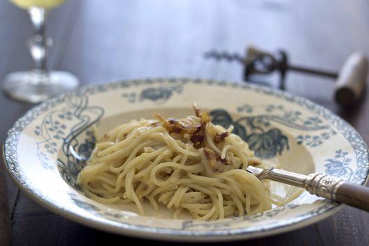 Creamy Egg and Bacon Spaghetti (Spaghetti alla carbonara) – Lazio, Primo (First