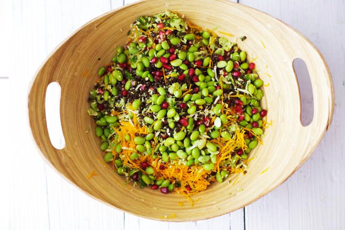 Brussels Sprout and Lentil Salad