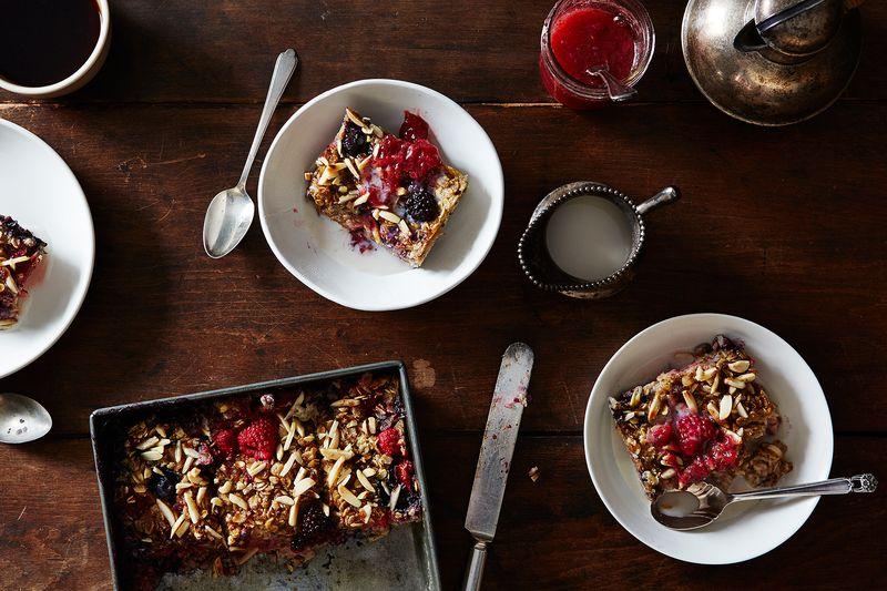 Vanilla Berry Baked Oatmeal