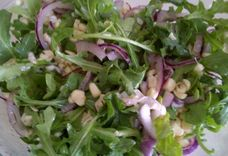 Raw White Corn and Arugula Salad