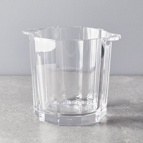 Faceted Crystal Ice Bucket