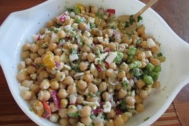Chickpea Feta Summer Salad
