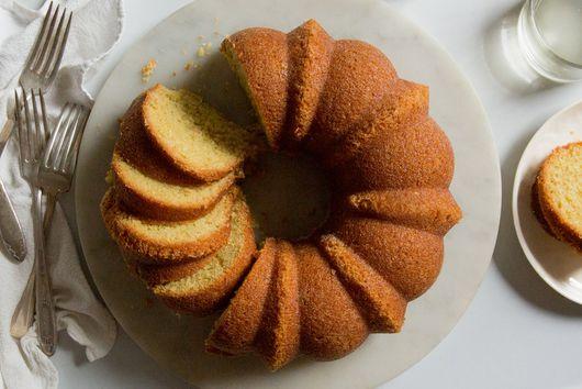 Yuzu Coconut Cake With Caramelized Sugar Crust