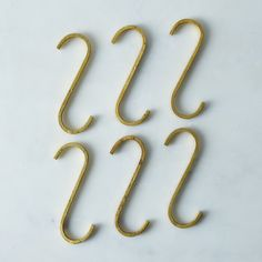 Brass S-Hooks (Set of 6)