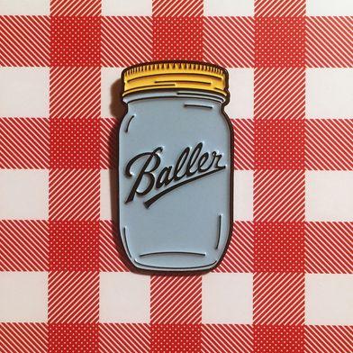 Baller Enamel Pin