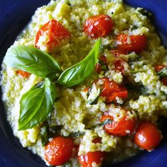 Roasted Tomato and Basil Quinotto