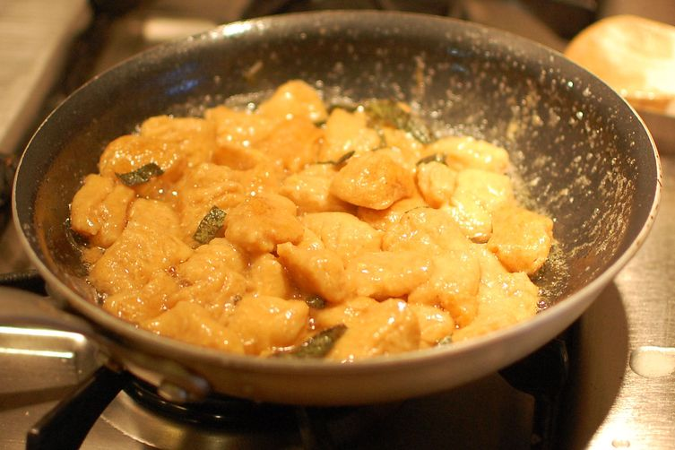 Sweet Potato Gnocchi with Sage and Walnuts