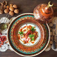 Turkish Style Poached Eggs With Garlic Yogurt & Chilli Flakes &Walnut Butter