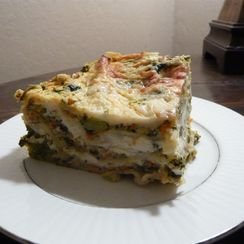 Kitchen Sink Vegetable Lasagna with Spiced Tofu Cream Sauce