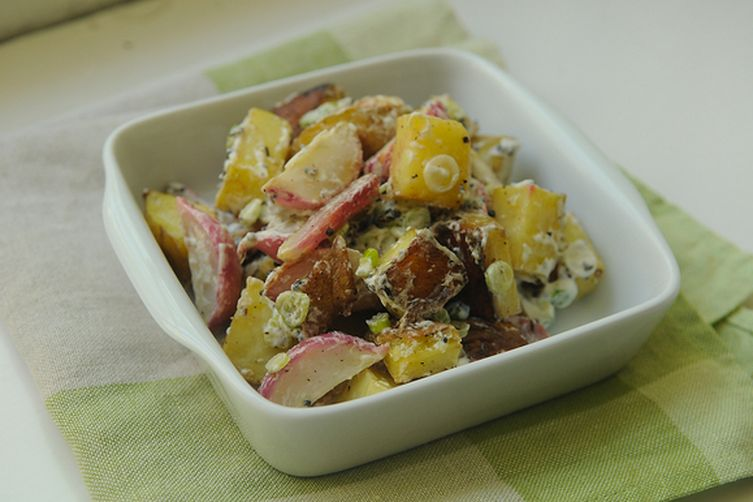 Red Potato Salad With Scallions & Radishes Recipe — Dishmaps