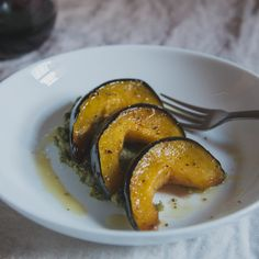 Acorn Squash with Almond Sage Pesto