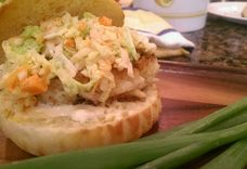 Crab Cakes on Brioche Buns with Asian Slaw