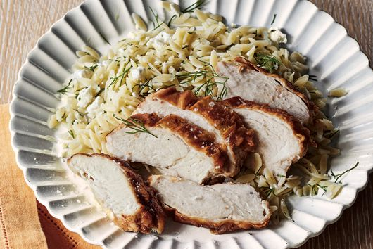 Crispy Chicken With Lemon Orzo From Ina Garten