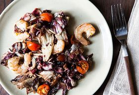 Dinner Tonight: Roasted Radicchio & Shrimp + Clementine Pound Cake