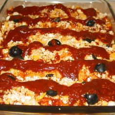 Enchiladas, Queso Cheese & Olive