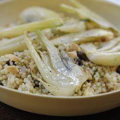 Dinner Tonight: Seared Scallops + Couscous