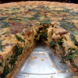 Caramelized Onion and Swiss Chard Quiche