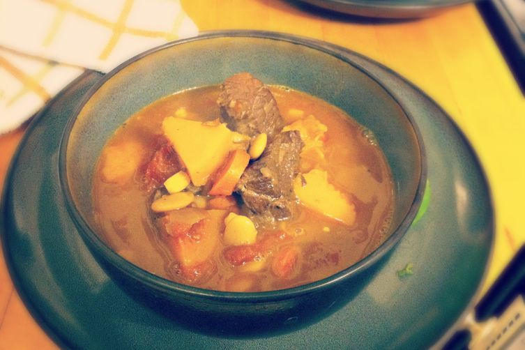 Spicy Beef Shoulder Stew with Squash